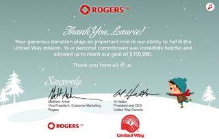 Rogers uw thank you